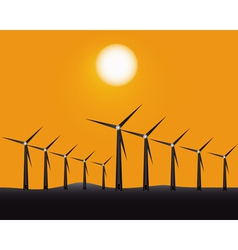 Windmills to generate energy vector