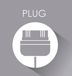 Plug and usb design vector