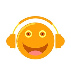 Cartoon listening to music vector