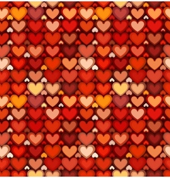 Red mottled hearts seamless pattern vector