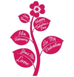 Valentine flower vector