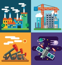 Industry landscapes and new technology vector