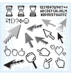 Pixilated symbols vector