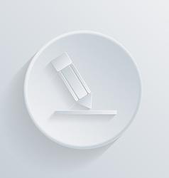 Circle icon silhouette writing pencil vector