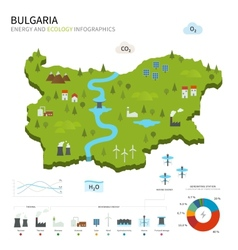 Energy industry and ecology of bulgaria vector