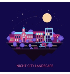 City scape night background vector