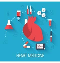 Flat medical equipment set icons concept vector