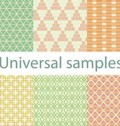 Set from six original samples on a white vector