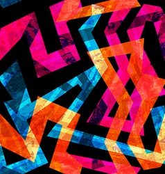 Bright labyrinth seamless pattern with grunge vector
