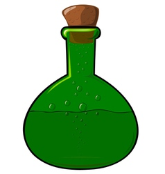 Green bottle with a cork vector