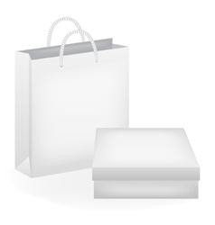 Paper bag and box vector