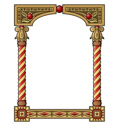 Traditional column frame vector
