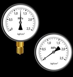 Gas manometer vector