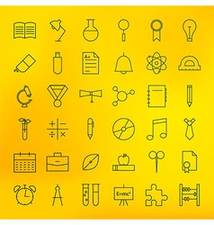 Education and school line science icons set vector