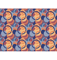 Pattern made of circles and rings vector