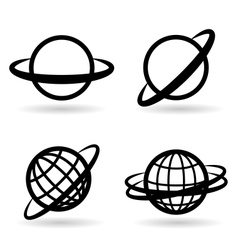 Icons planet vector