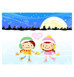 Card design utilizing dating couples mascot vector