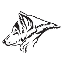 Wolf muzzle vector