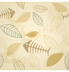 Fish and plant seamless pattern vector