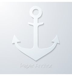 Antique travel paper anchor flat icon vector