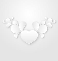 Paper floral design element vector