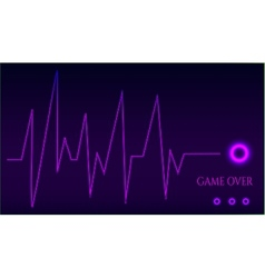 Game over - ekg graph vector