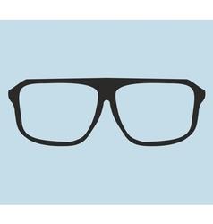 Nerd glasses on blue background vector