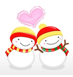 Snowman mascot the event activity christmas chara vector