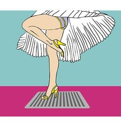 Marilyn monroe legs dress vector