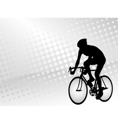 Bicyclist silhouette on the abstract background vector
