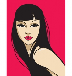 Hot beauty vector