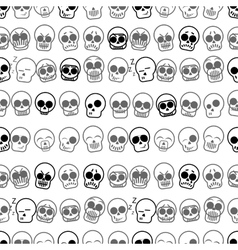 Set of icons skull  seamless pattern vector