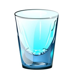 Alcohol glass small vector