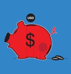 Us currency downgrade vector