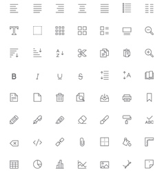 Text editing icon set vector