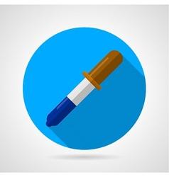 Flat icon for laboratory pipette vector