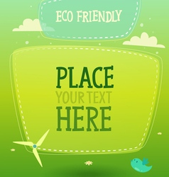 Eco signboard banner background vector