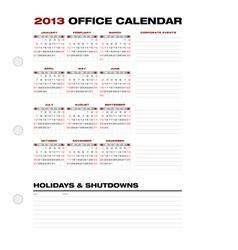 2013 clean office calendar vector
