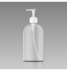 Clean liquid soap bottle template vector