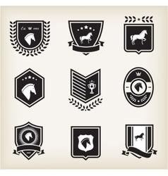 Horse badges vector
