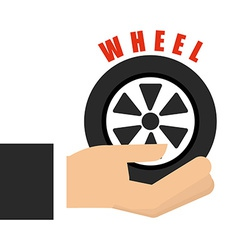 Wheel car design vector