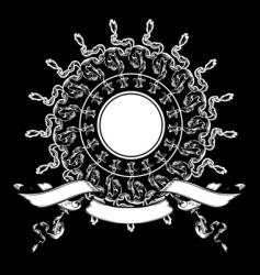 Heraldry background vector