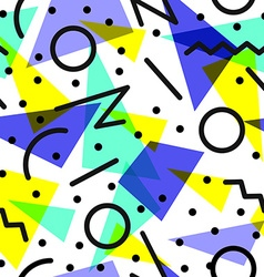 Retro 80s pattern background vector