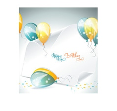 Banner and ballons vector