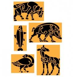 Tribal animals vector