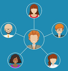 Network of people vector