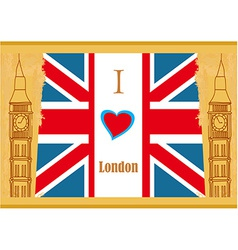 Grunge banner - i love london vector