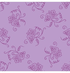 Hand drawing simple grape pattern vector