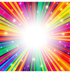 Colorful background rays empty vector