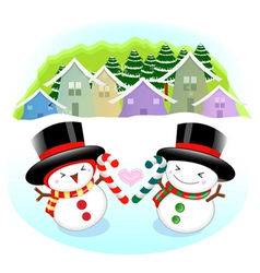 Snowman mascot the event activity christmas vector
